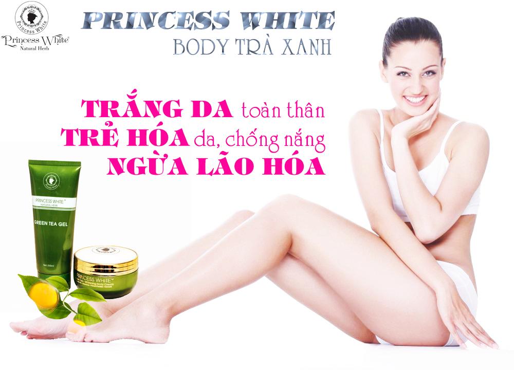Kem Dưỡng Trắng Da Toàn Thân Trà xanh Princess White